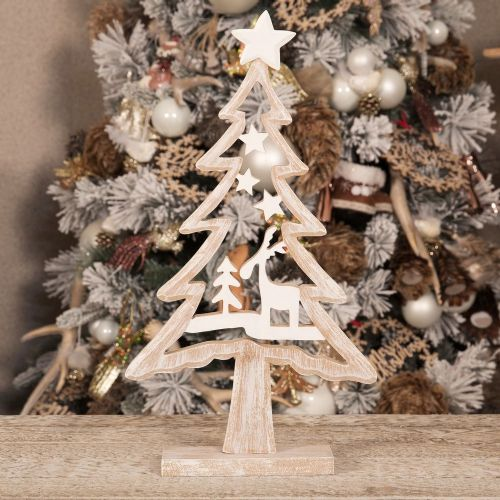Rustic Wooden Christmas Tree Ornament Decoration